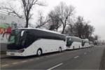 Hire Setra coach front Krakow Poland