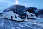 Hire Scania coach front Krakow Poland