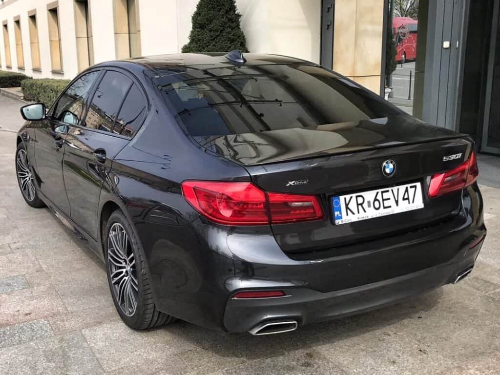 BMW 5-series limousine with driver hire at the Sheraton Grand Krakow