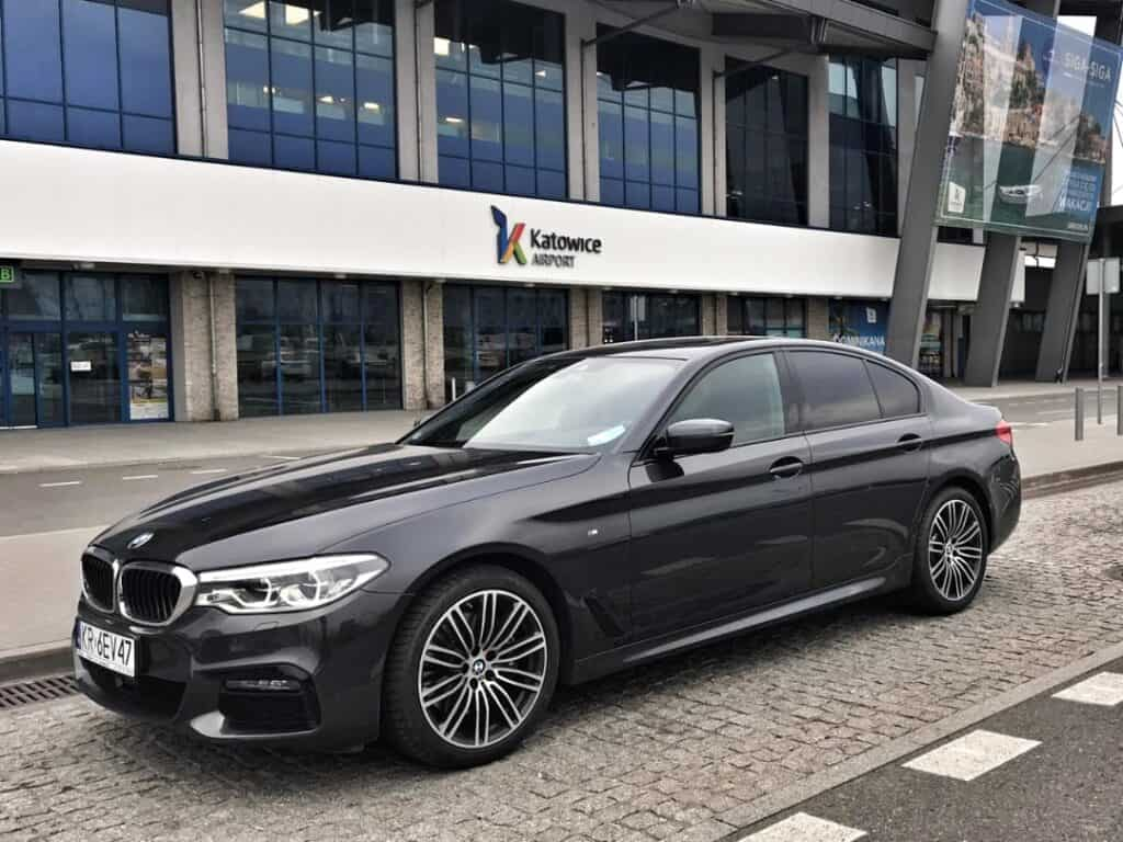 BMW 5-series limousine at the Katowice Airport