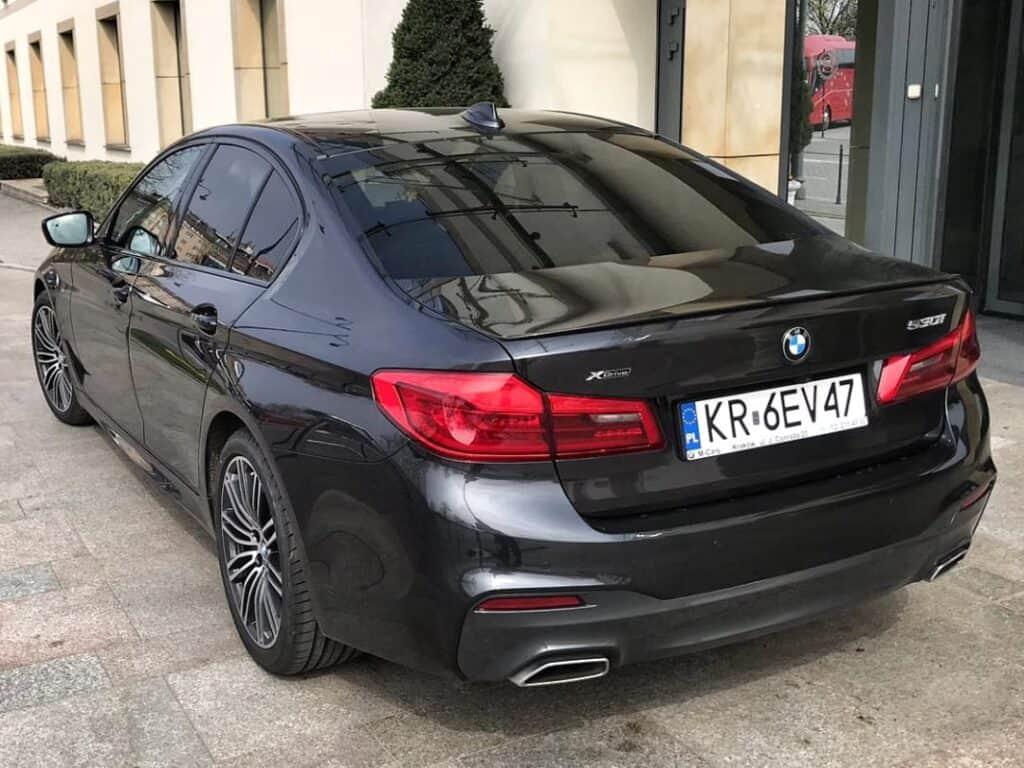 Limuzyna na wynajem, BMW serii 5 tył