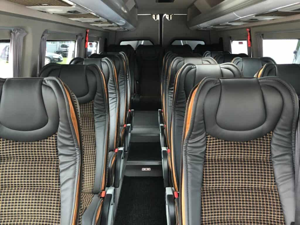 Interior of the Mercedes-Benz Sprinter