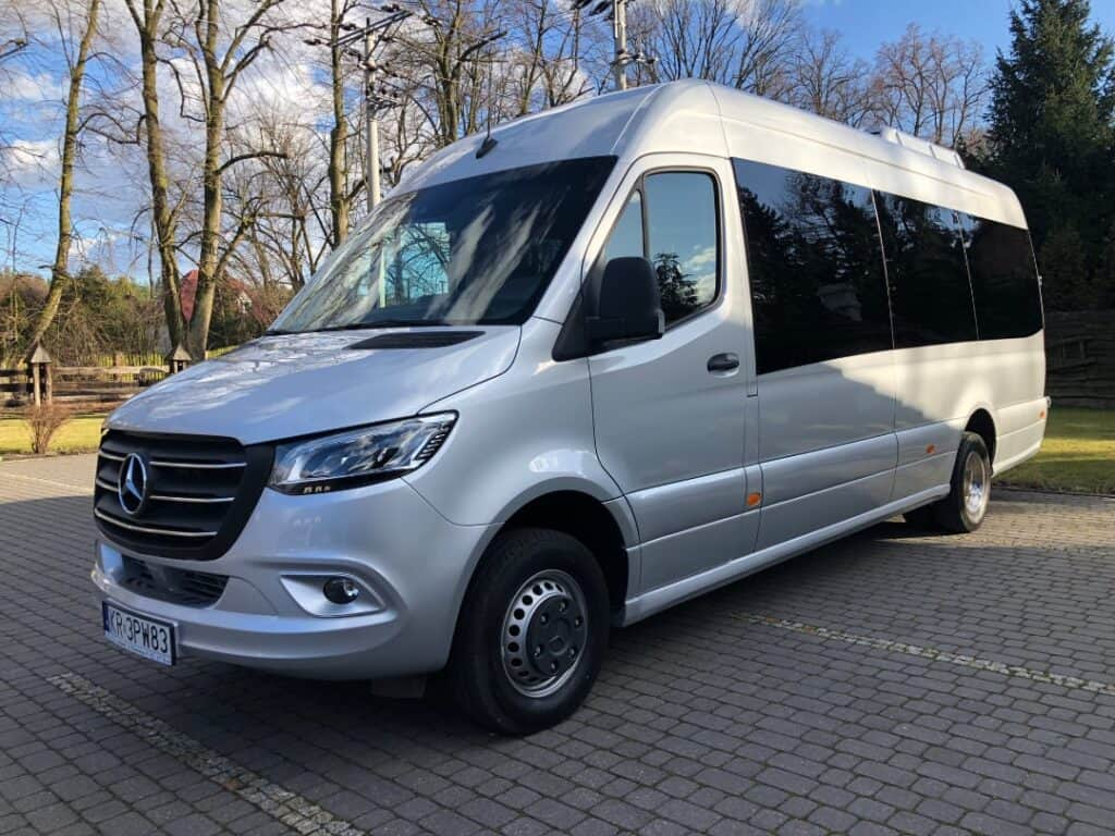 Mercedes-Benz Sprinter minibus with driver hire