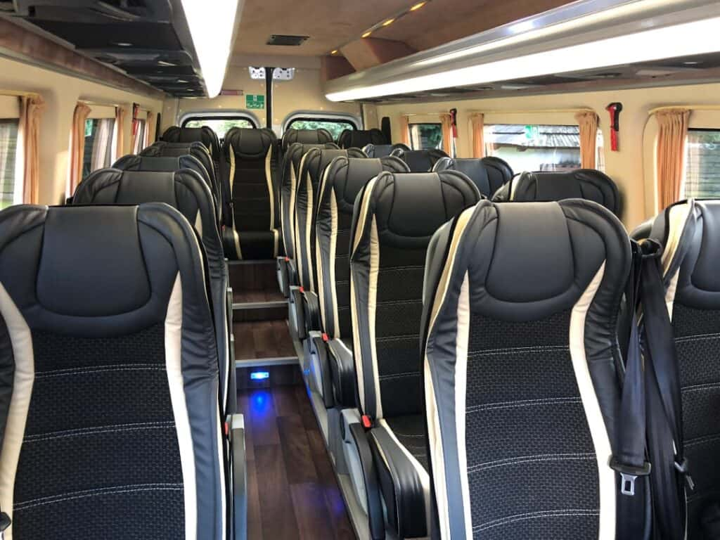 Mercedes-Benz Sprinter minibus interior