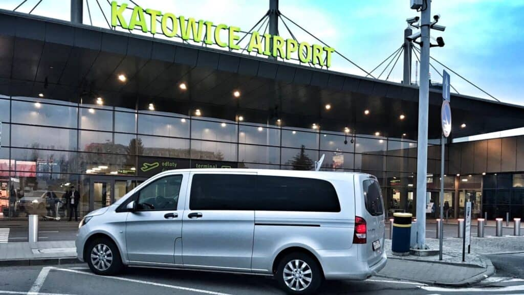 Mercedes-Benz Vito minivan at the Katowice Airport