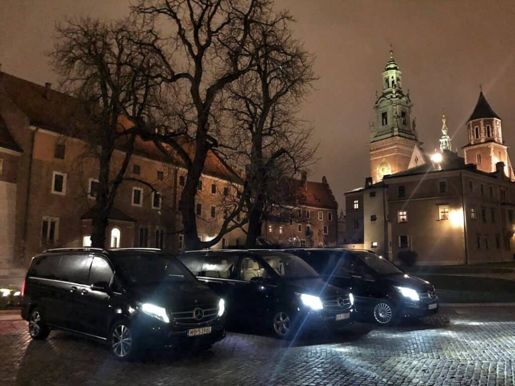Minivan with driver hire Wawel Castle Krakow