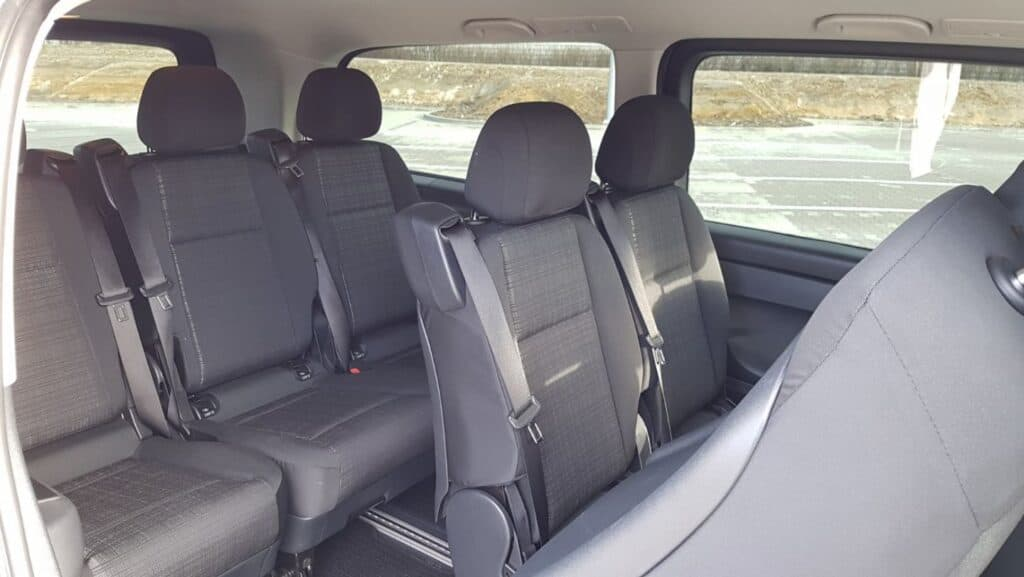 Mercedes-Benz Vito minivan with driver hire - interior of the vehicle